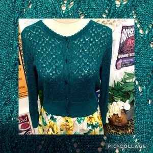 Review Mermaid Green Cardigan Size 12